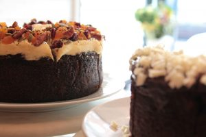 Carrot and choclate ganache cakes