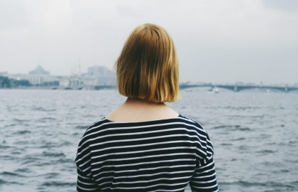 Woman looking oout to sea